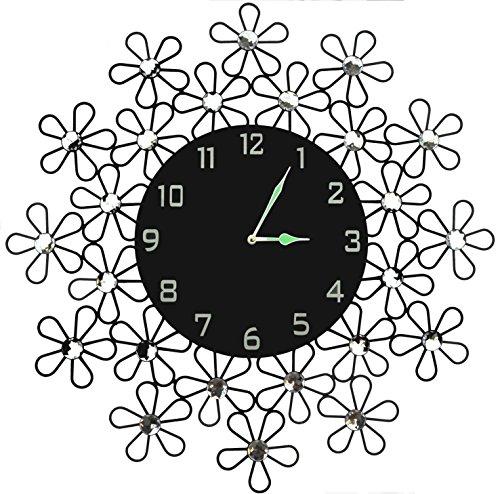 Lulu Decor Black Drop Wall Clock : Lulu decor daisy wall clock decorative metal