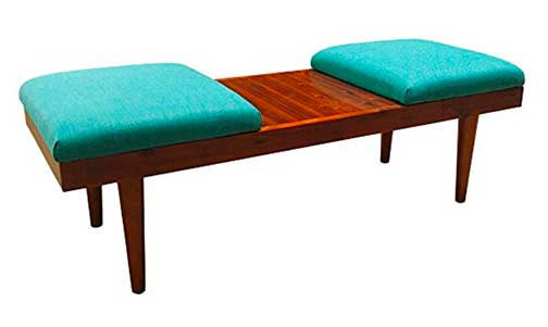 Acacia Wood Coffee Table Ottoman - On Amazon