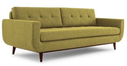 What does a mid century modern style sofa look like?