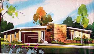 Mid Mod Architecture - A Mid Century Modern Atomic Ranch- Courtesy of Ethan - Homes & Plans of the 40s, 50s, 60s