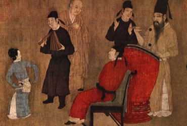 Public Domain Wikipedia - A Chinese gentleman sitting in a chair while listening to music and watching a dancer