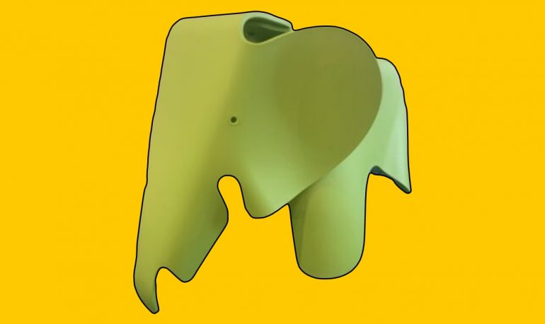 Eames Era Toy Elephant